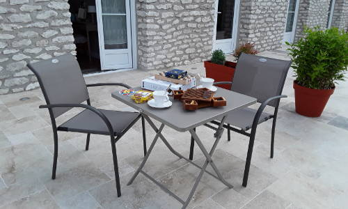 Gaming table on the terrace
